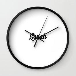 Sarah Custom Text Birthday Name Wall Clock