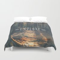 explore Duvet Covers featuring Explore by grafik ' prod
