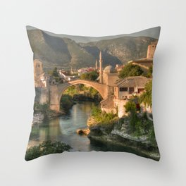The Old Bridge of Mostar Throw Pillow