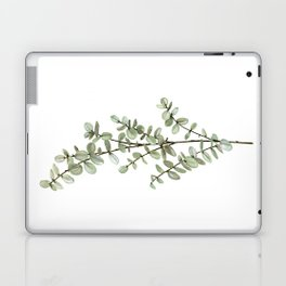 Baby Blue Eucalyptus Watercolor Painting Laptop & iPad Skin