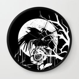 Raven and Rose Wall Clock