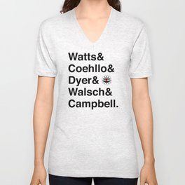 Watts & Coehllo & Dyer & Walsch & Campbell Unisex V-Neck