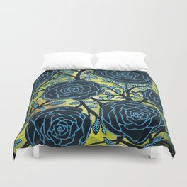 Black and Blue Duvet Cover