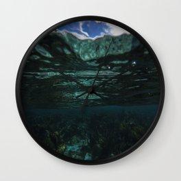Dark Caribbean Layers Wall Clock