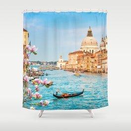 Gondola on Canal Grande Shower Curtain