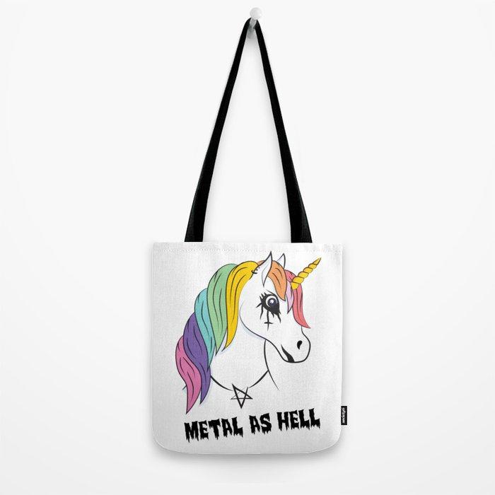 Metal Unicorn Tote Bag
