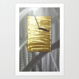 Modern Metal Wall Clock by Christopher Henderson Art Print