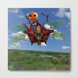 Jack Flying on Gump at Day Metal Print