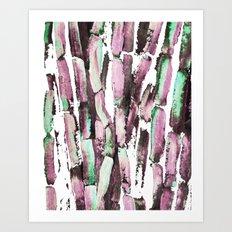 Purple Sugarcane on Greenery Art Print