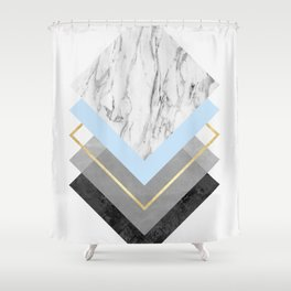 Modern geometric art XVII Shower Curtain