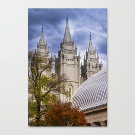 Salt Lake LDS (Mormon) Temple and Tabernacle - Temple Square - Utah Canvas Print