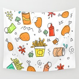Fat food pattern. Wall Tapestry