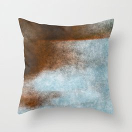 stained fantasy dark sunset Throw Pillow