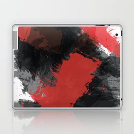 Red and Black Paint Splash Laptop & iPad Skin