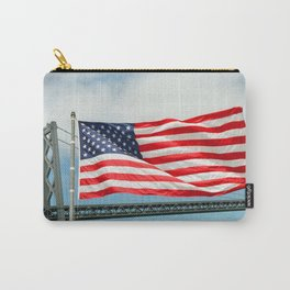 Flag at the stern of the Battleship New Jersey Carry-All Pouch