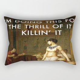 Cleopatra Killin' It Rectangular Pillow