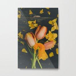 Spring Tulip Flowers Metal Print