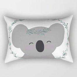Happy Smiling Koala with Eucalyptus Tiara and Wreath! Rectangular Pillow