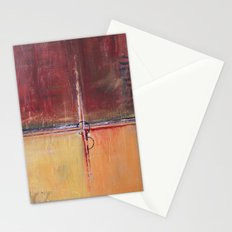 Cargo - Textured Abstract Painting - Red, Gold and Copper Art Stationery Cards