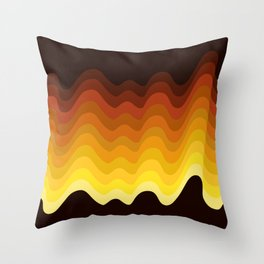 70s Ripple Throw Pillow