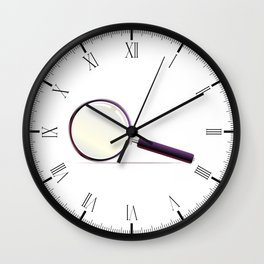 Magnifying Glass Wall Clock