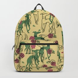 Greyhounds and Roses Backpack