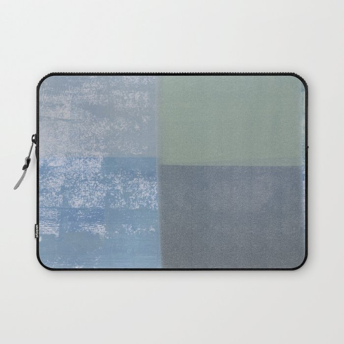 Navy Blue Abstract Art Print Home Decor Poster Laptop Sleeve