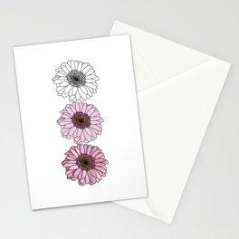 Three Gerbera Flowers Stationery Cards
