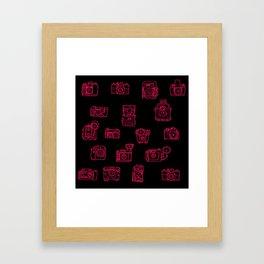 Camera: Pink - pop art illustration Framed Art Print