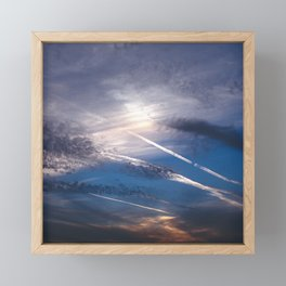 Crossroads in the Cloudy Sunset Framed Mini Art Print