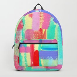 Color Me Babe - Modern Abstract Painting Bright Colors aqua turquoise Backpack