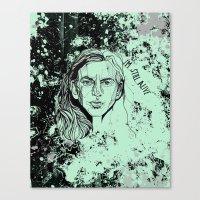 eddie vedder Canvas Prints featuring Eddie Vedder Illustration by RachelLaurenDesign