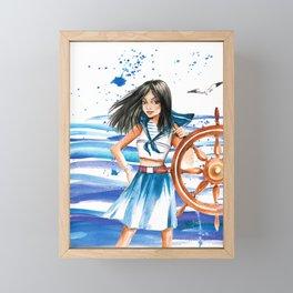 Ship Driver Framed Mini Art Print