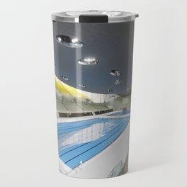 London Aquatics Centre | Zaha Hadid architect Travel Mug