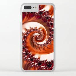 Beautiful Crimson Passion - The Heart of the Rose Fractal Clear iPhone Case