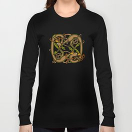 Celtic Hounds Knot One Long Sleeve T-shirt
