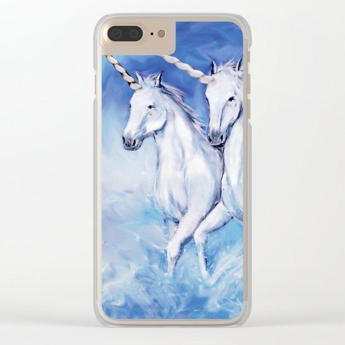 Uniorn, Uniorn, Uniorn Clear iPhone Case