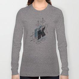 The Exploded Alphabet / K Long Sleeve T-shirt