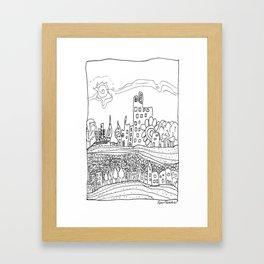Ciudad de mis amores. Framed Art Print