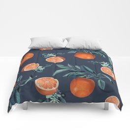 Lemon and Leaf Pattern VI Comforters