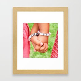 Big Sis & Lil Sis Holding Hands Framed Art Print