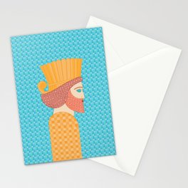 Ancient Persian Warrior Pop Art Stationery Cards