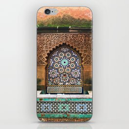 Moroccan water fountain turquoise iPhone Skin