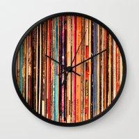 vinyl Wall Clocks featuring Vinyl by bomobob