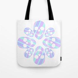 kaleidoscope skulls Tote Bag
