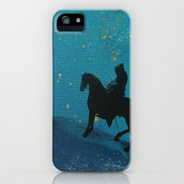 knight in blue iPhone Case
