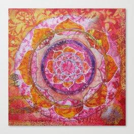 Creative Glow Mandala Canvas Print