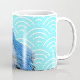 AQUA SPRING BLUE BIRD ART Coffee Mug