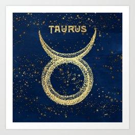 Taurus Zodiac Sign Kunstdrucke