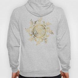 Leaf Mandala – Gold Palette Hoody